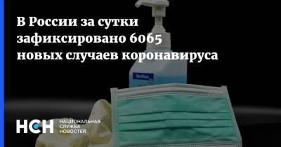 В России за сутки зафиксировано 6065 новых случаев коронавируса