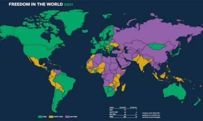 Глобальный уровень свободы в мире падает 15 лет подряд