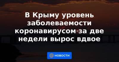 В Крыму уровень заболеваемости коронавирусом за две недели вырос вдвое