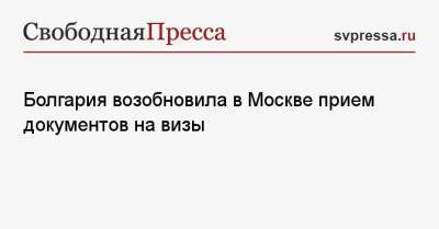 Болгария возобновила в Москве прием документов на визы