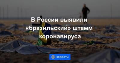 В России выявили «бразильский» штамм коронавируса