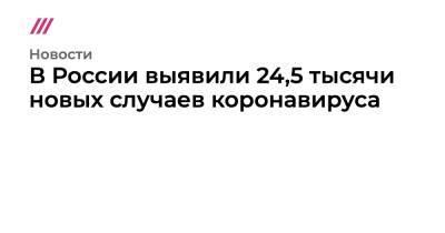 В России выявили 24,5 тысячи новых случаев коронавируса